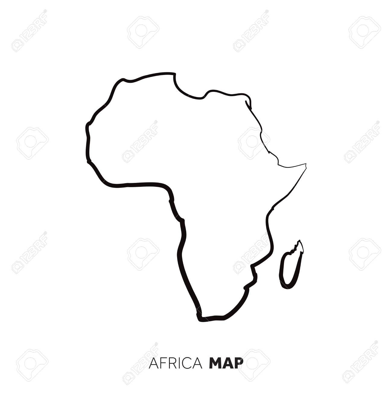 Jungle Maps Map Of Africa Outline