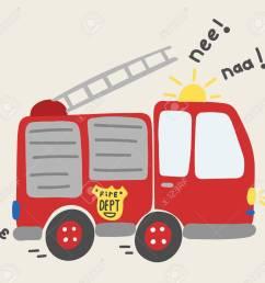 cute cartoon toy fire truck vector stock vector 67494497 [ 1300 x 1239 Pixel ]