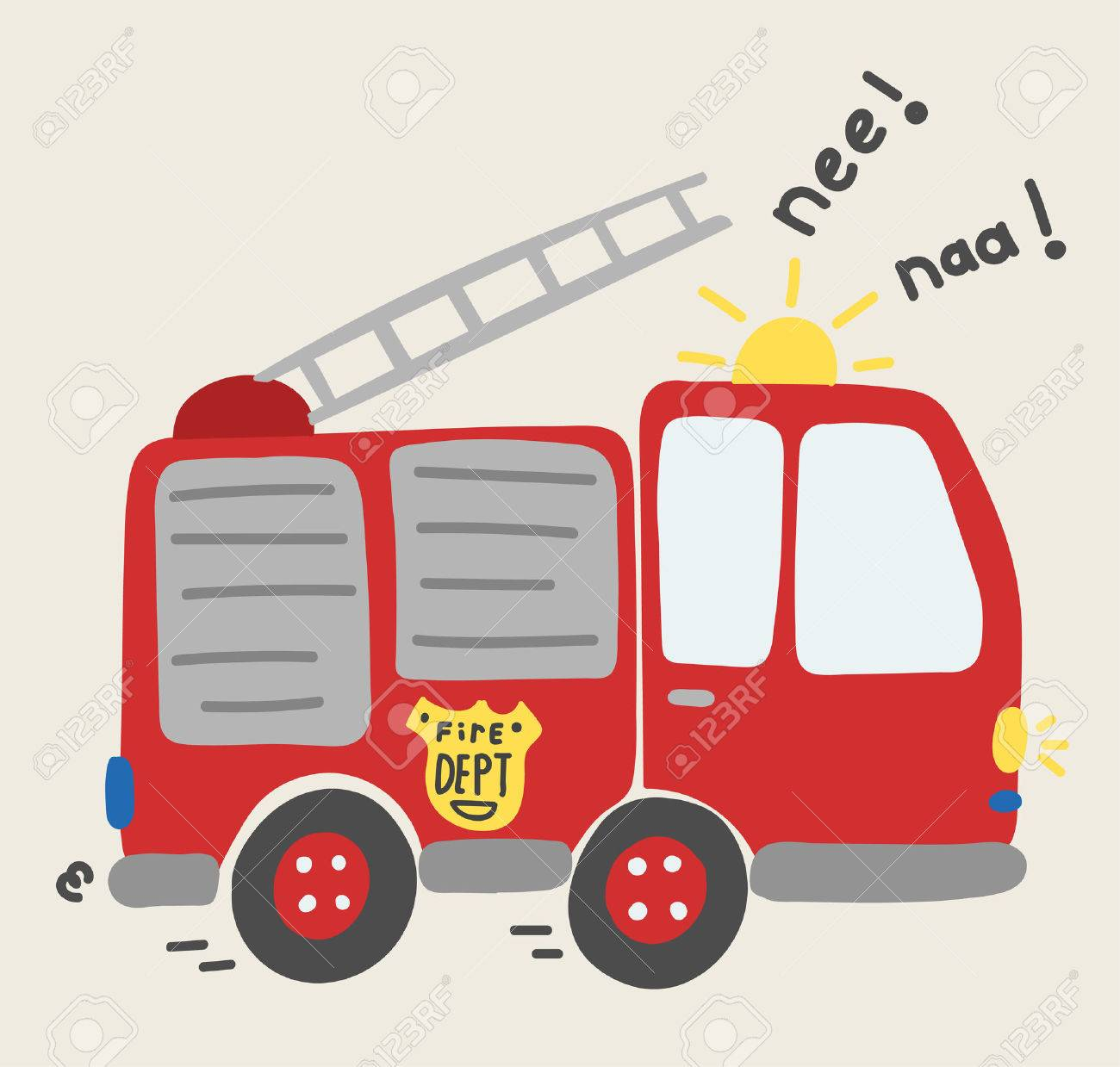 hight resolution of cute cartoon toy fire truck vector stock vector 67494497