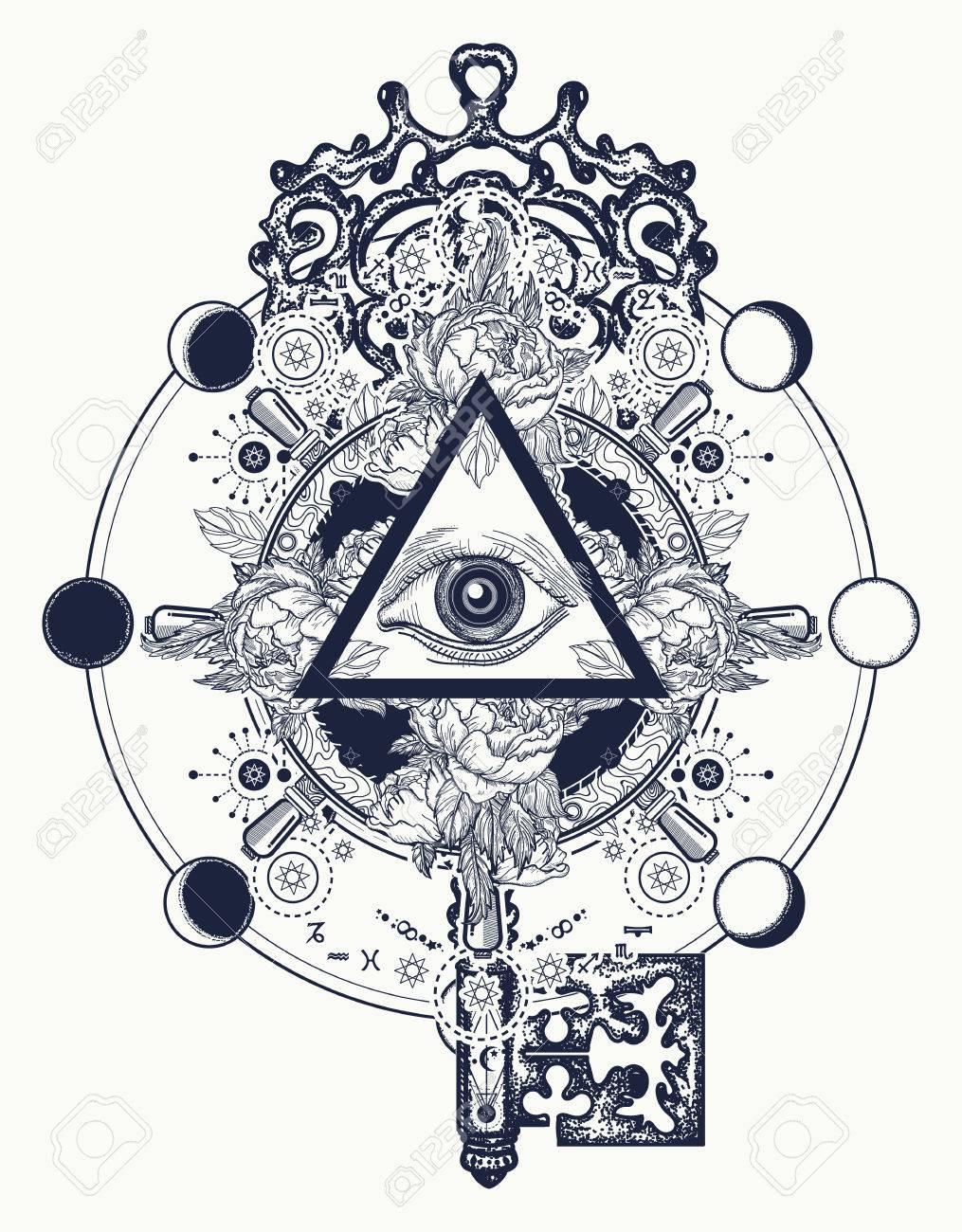 masonic eye and key