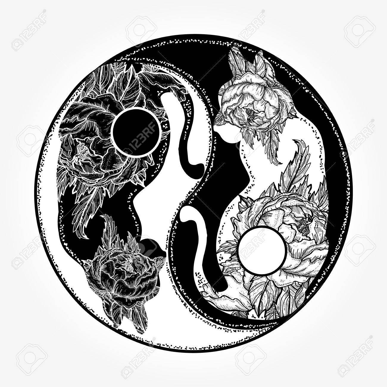 cats yin and yang