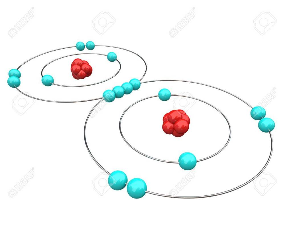 medium resolution of atomic diagram of oxygen or o2 showing the protons neutrons and electrons stock