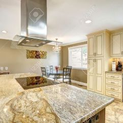 Big Kitchen Islands Ninja Spacious Room With Tile Floor Island Built In Stove
