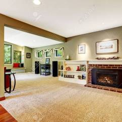 Living Room With Light Green Carpet Luxury Fifth Wheels Front In Color Brown Soft Floor Fireplace Derocated White