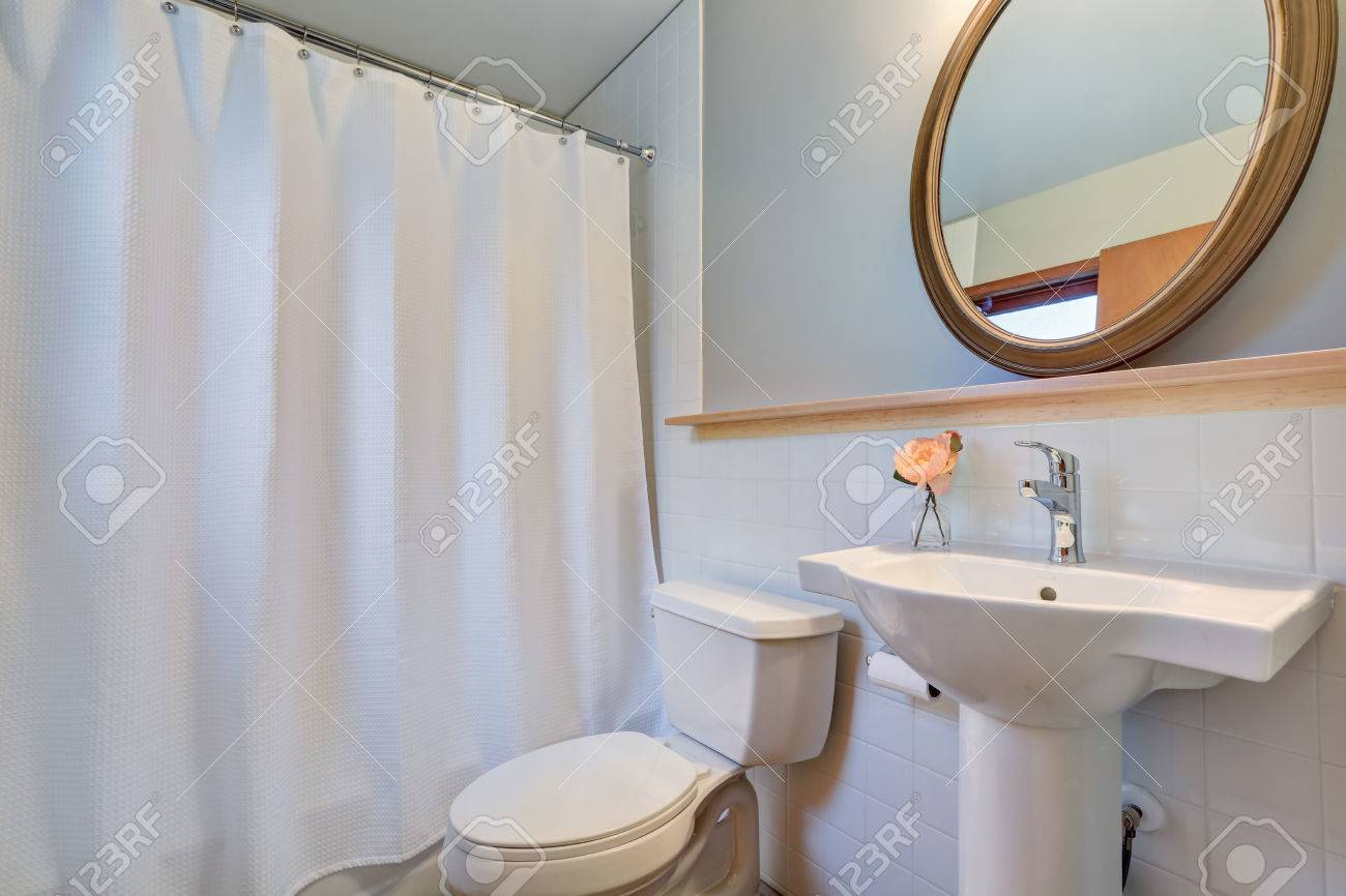 white clean bathroom with