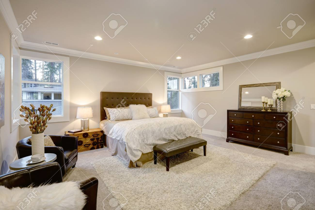 Chambre Lit Taupe