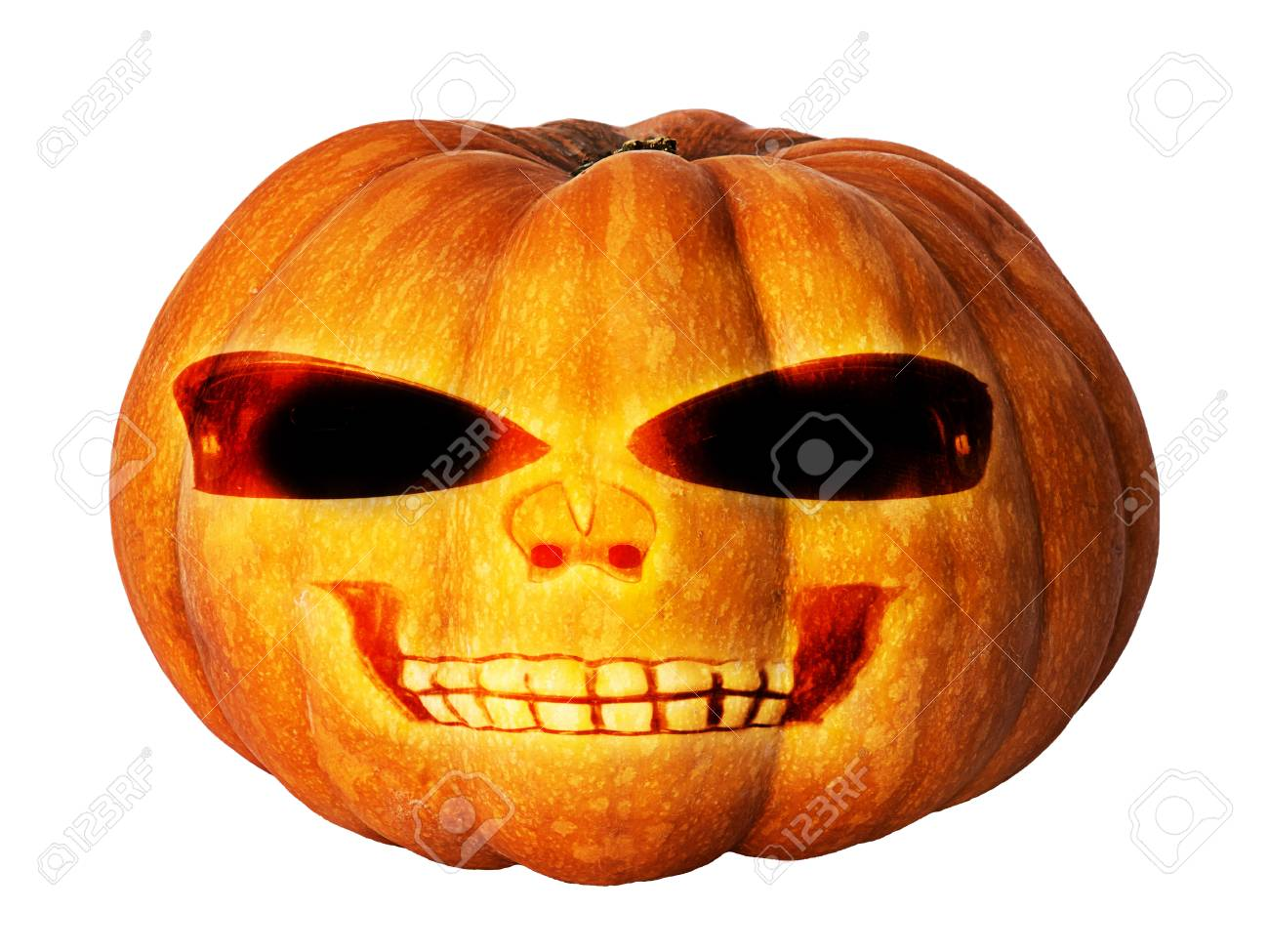 pumpkin with face for