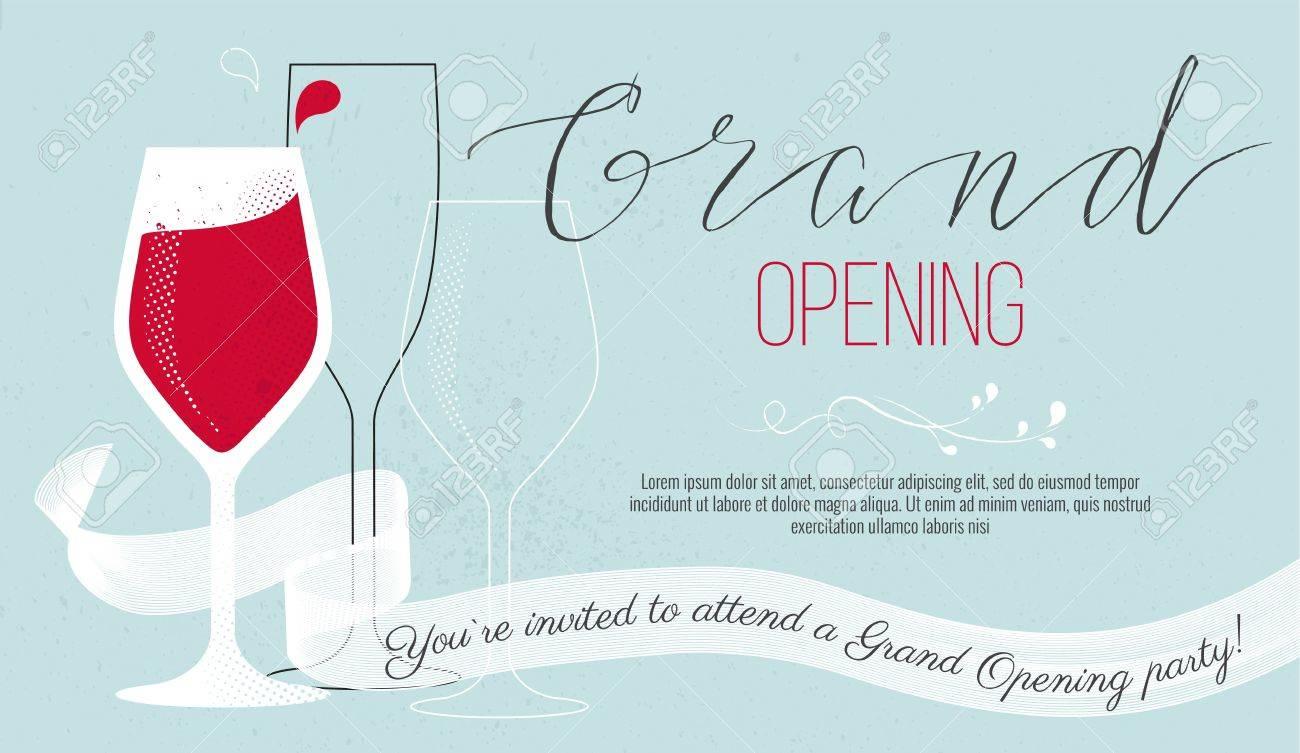 jolie carte d invitation vous etes invite a une ceremonie d inauguration concept inauguration illustration vectorielle
