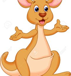 cute kangaroo kartoon stock vector 28414226 [ 957 x 1300 Pixel ]