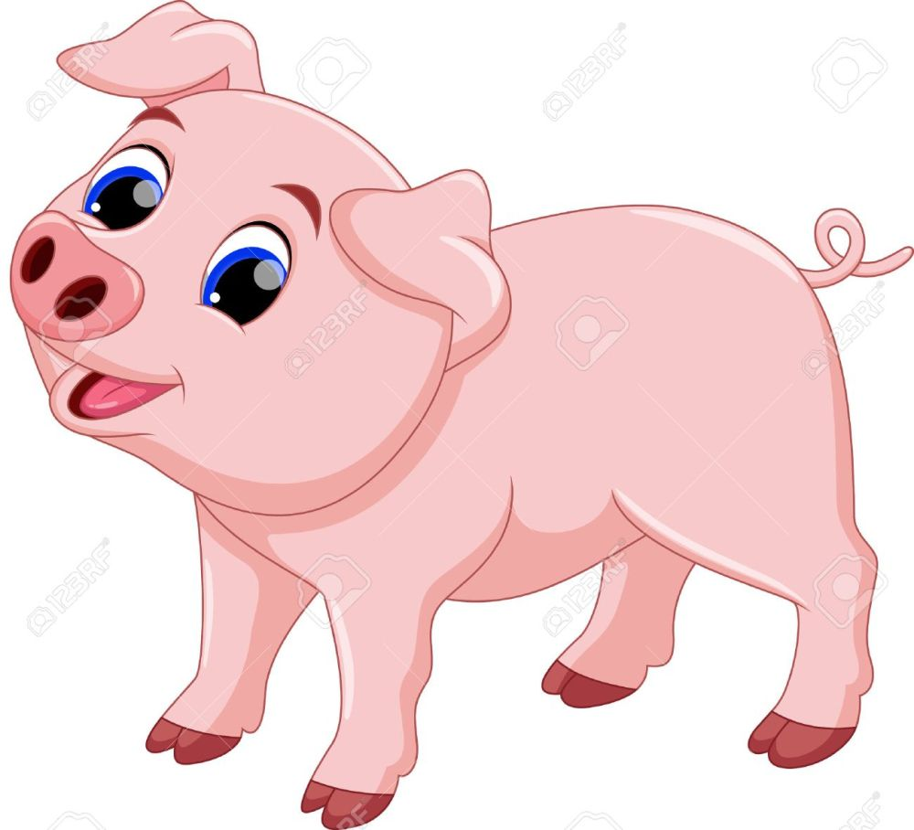 medium resolution of cute pig cartoon