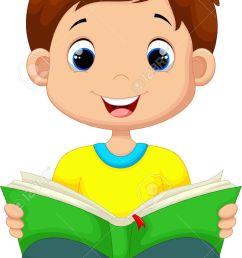 little boy reading a book stock vector 41721987 [ 745 x 1300 Pixel ]
