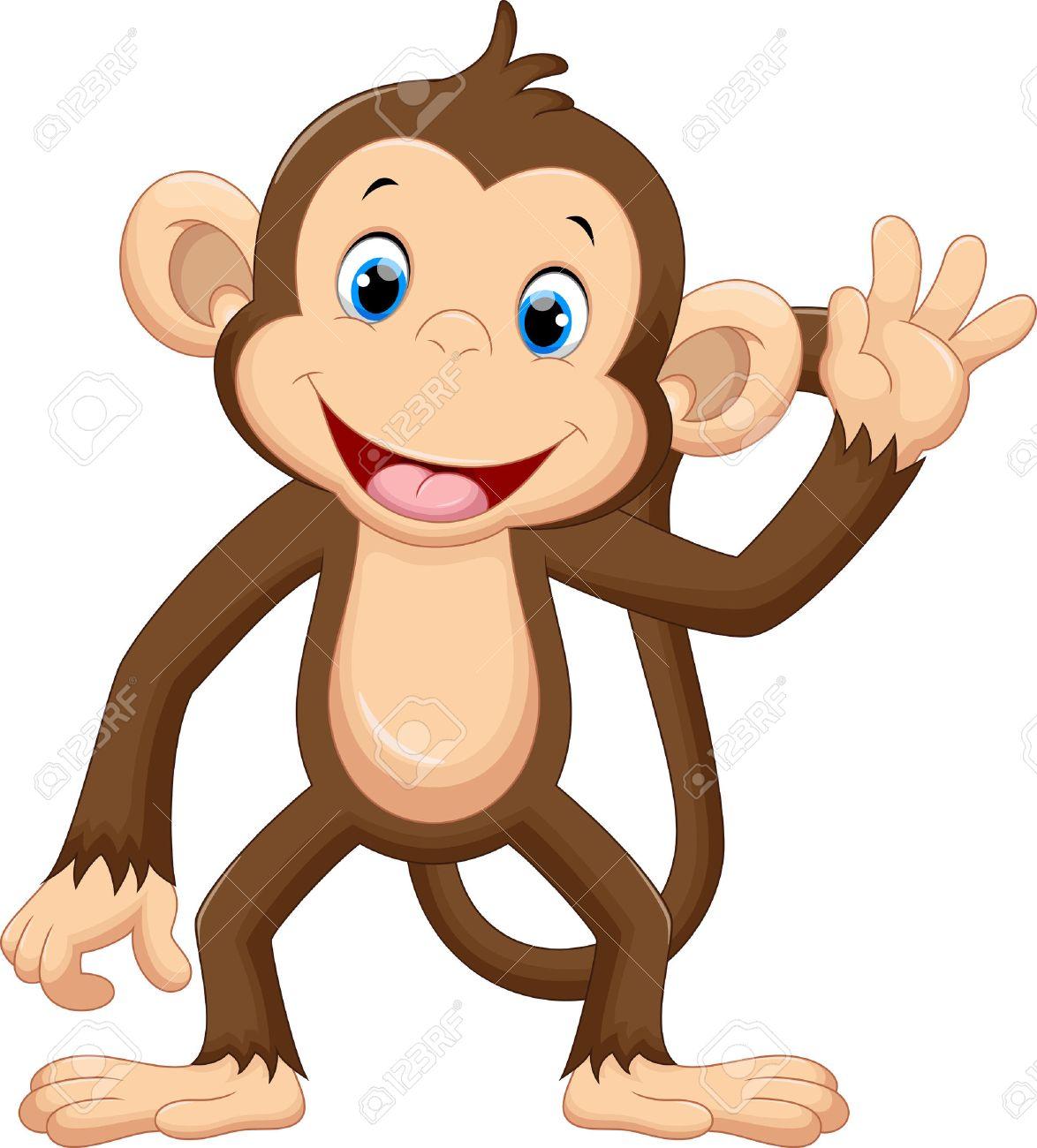 Cute Monkey Waving Royalty Free Cliparts Vectors And Stock Illustration Image 50993720