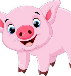cute pig cartoon stock vector 55360479 [ 1300 x 977 Pixel ]