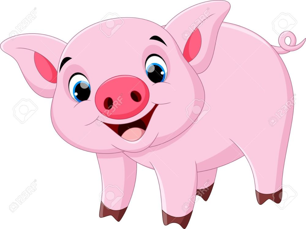 medium resolution of cute pig cartoon stock vector 55360479