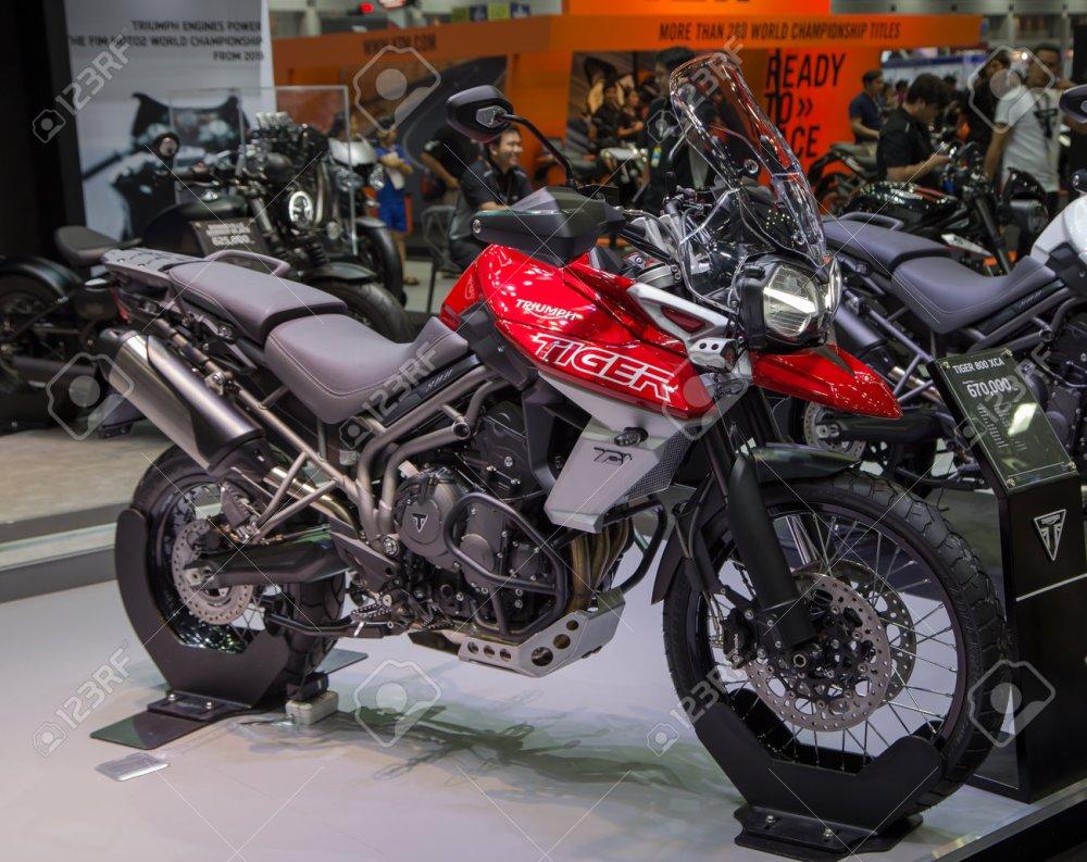 medium resolution of bangkok thailand december 11 2017 triumph tiger 800 xca presented in motor