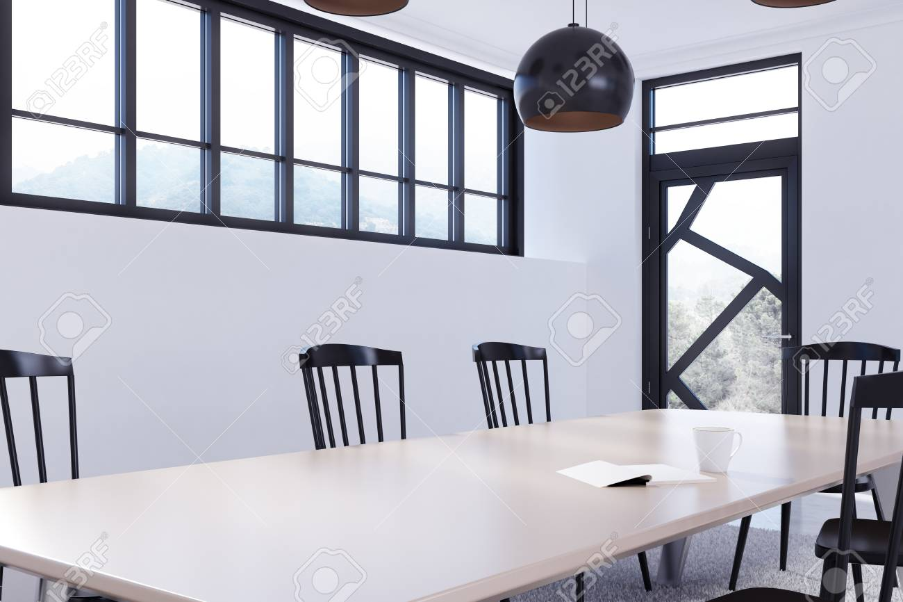 White Dining Room Chair White Dining Room Corner With A Long Wooden Table Black Chairs