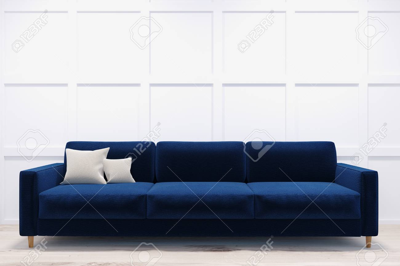 sofas dark blue extra long modern sofa and comfortable standing in a room with white walls light