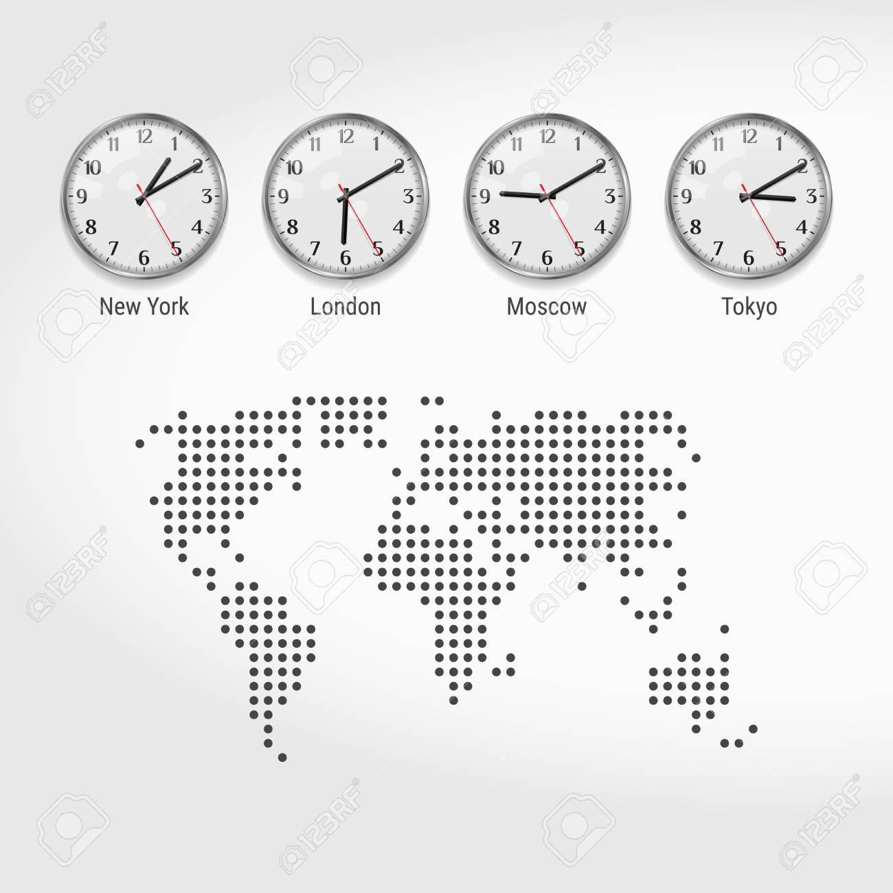 world time zones clocks