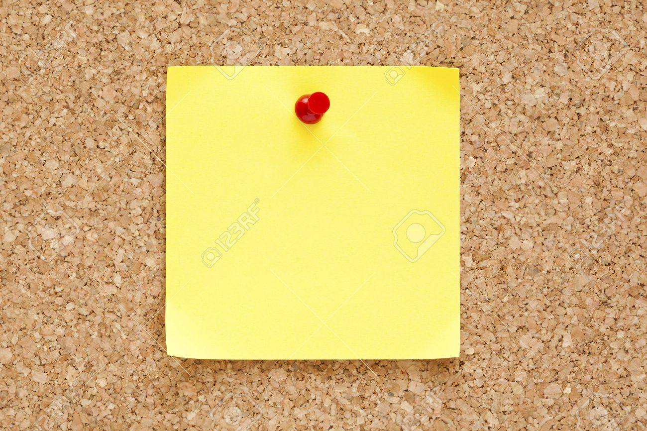 blank yellow sticky note