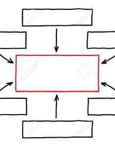 Blank handdrawn flow chart with red marker on white paper stock photo also rh rf