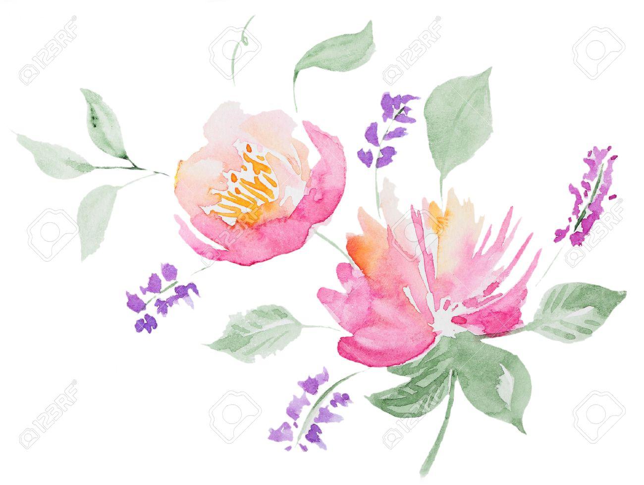 abstract watercolor peon watercolor