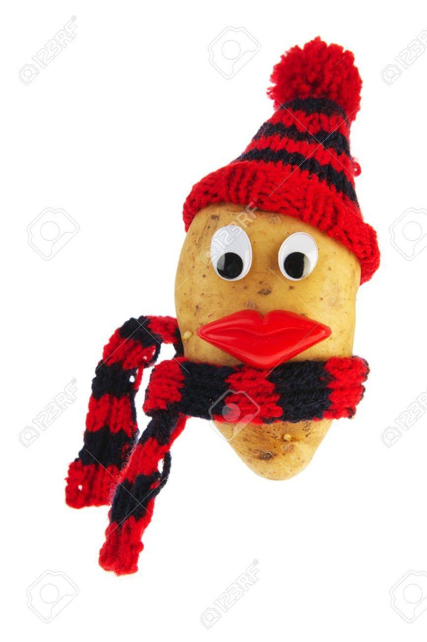 habille de la tete de pomme de terre par temps froid