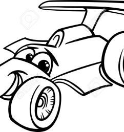 black and white cartoon funny racing car stock vector 25891273 [ 1300 x 717 Pixel ]