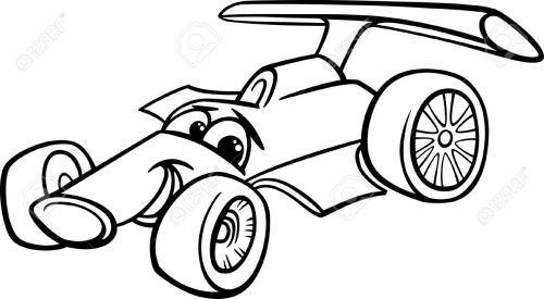 small resolution of black and white cartoon funny racing car stock vector 25891273