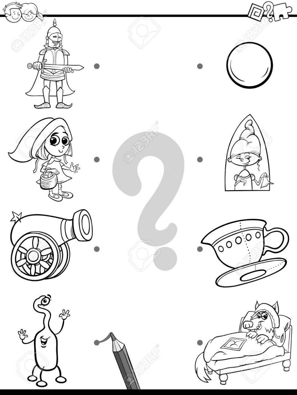 教育の黒と白の漫画イラスト ファンタジー オブジェクトやキャラクターの