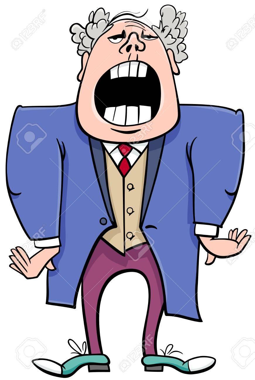 hight resolution of cartoon illustration of singing man or opera singer character stock vector 69364883