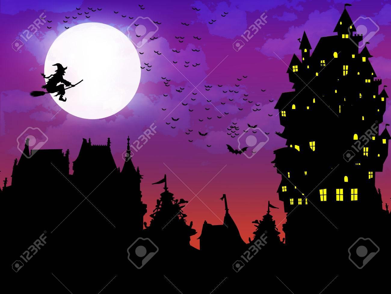 halloween night sky background