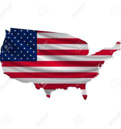america flag map icon stock vector 54616048 [ 1300 x 1299 Pixel ]