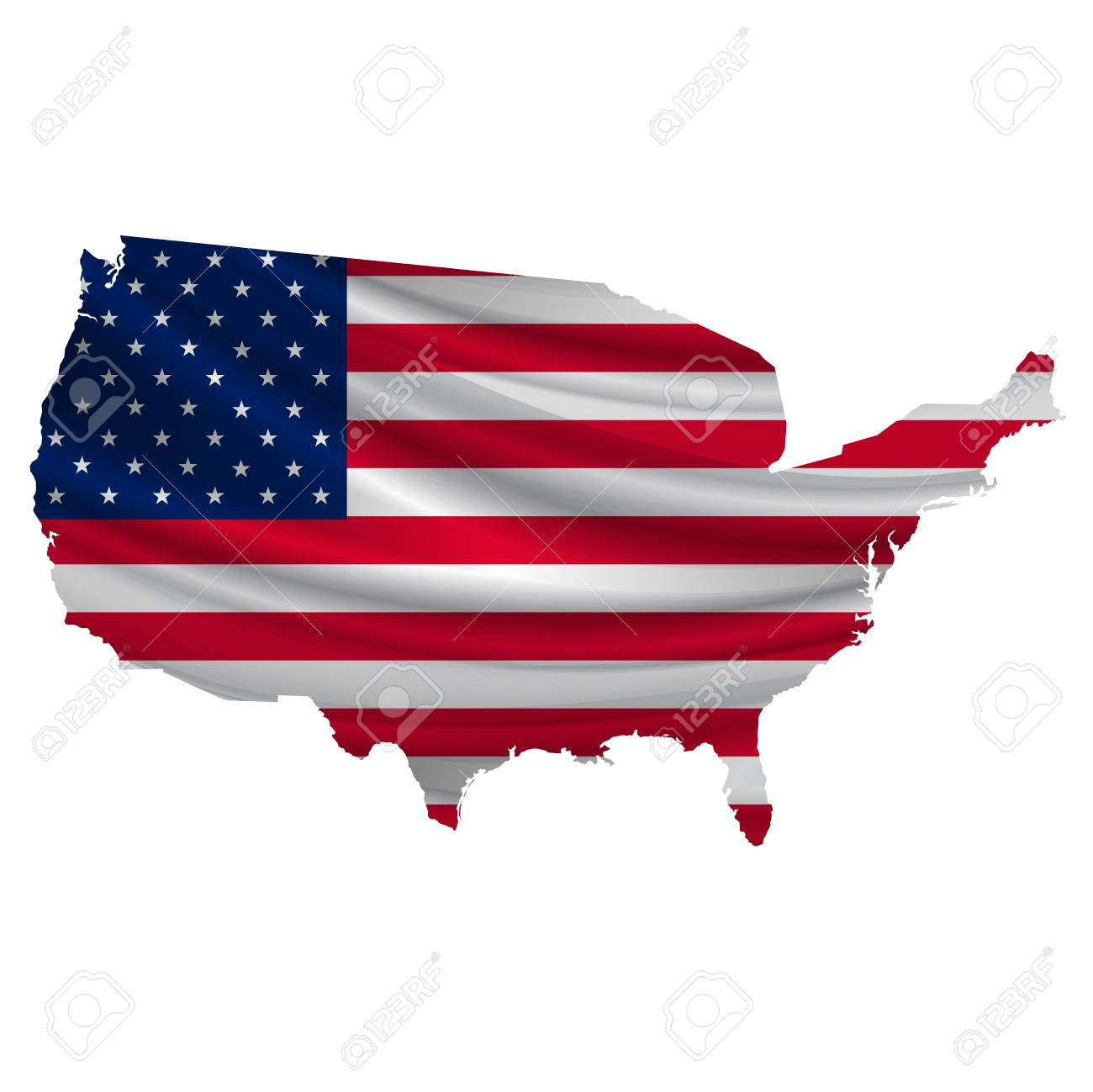 hight resolution of america flag map icon stock vector 54616048