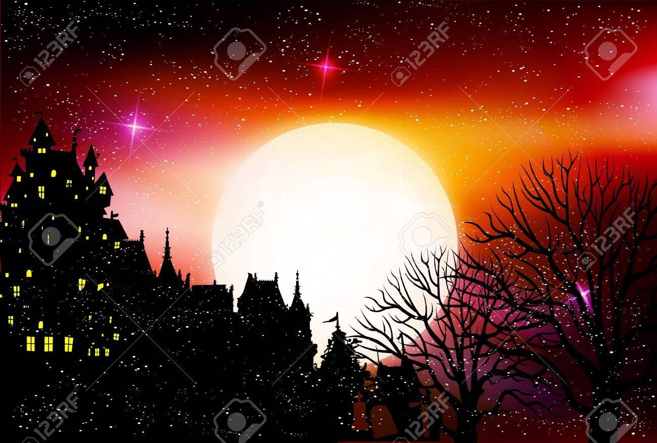 halloween night sky star