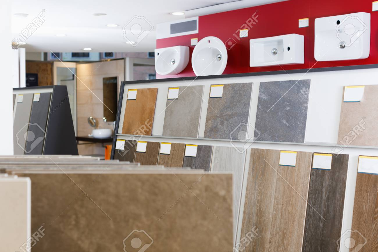 https www 123rf com photo 98085483 picture of ceramic tile basin and laminated flooring in shop html