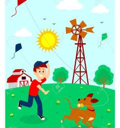 boy playing kite with his dog clipart stock vector 57577100 [ 974 x 1300 Pixel ]
