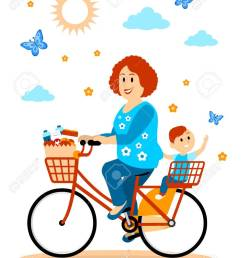 hitching a ride to the store with mom clipart stock vector 57577115 [ 974 x 1300 Pixel ]