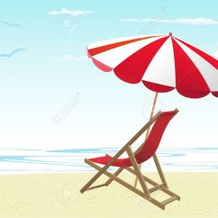 Beach Chairs And Umbrella Knoll Conference Chair Royalty Free Cliparts Vectors Stock Vector 10182917