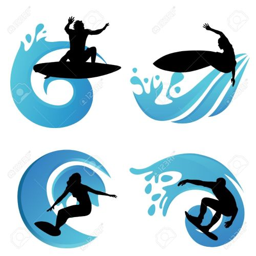 small resolution of surfing symbols stock vector 10689667