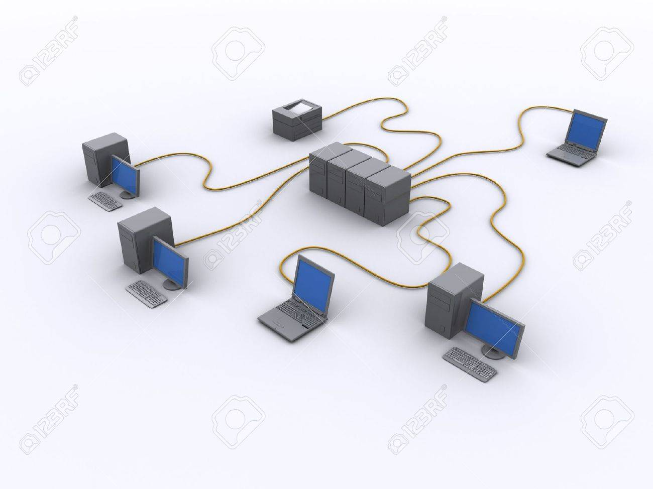 A Picture Of A Wired Network Diagram Stock Photo Picture And