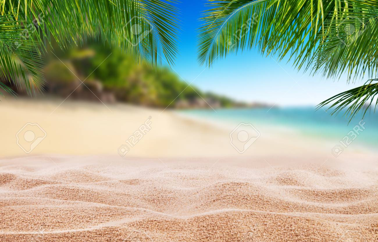 Tropical Beach With Sand Summer Holiday Background Travel And Stock Photo Picture And Royalty Free Image Image 79354254