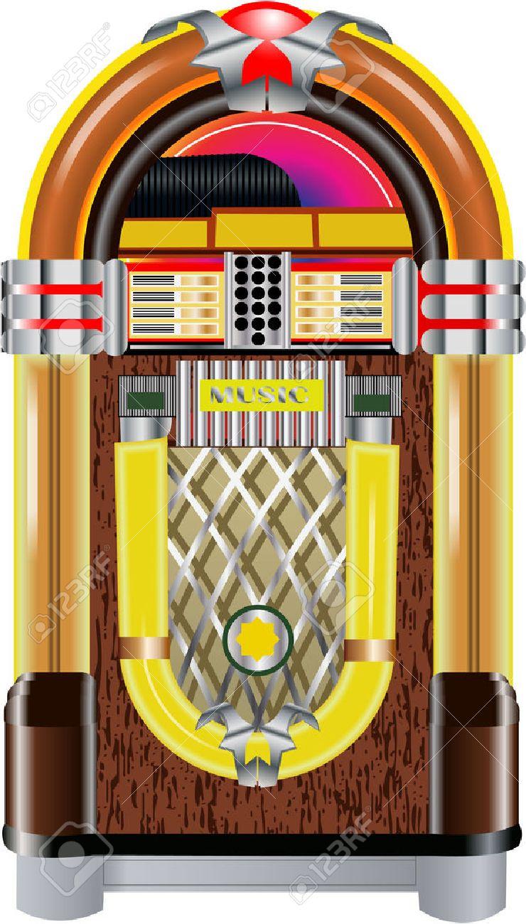 hight resolution of jukebox stock vector 27666226