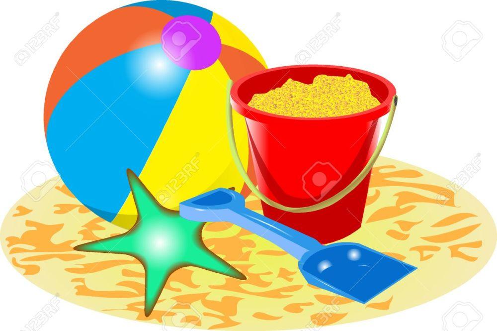 medium resolution of beach ball bucket and spade stock vector 37679044