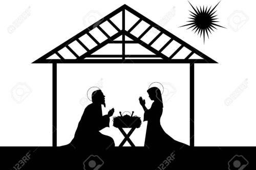 small resolution of christian christmas nativity scene stock vector 59961731