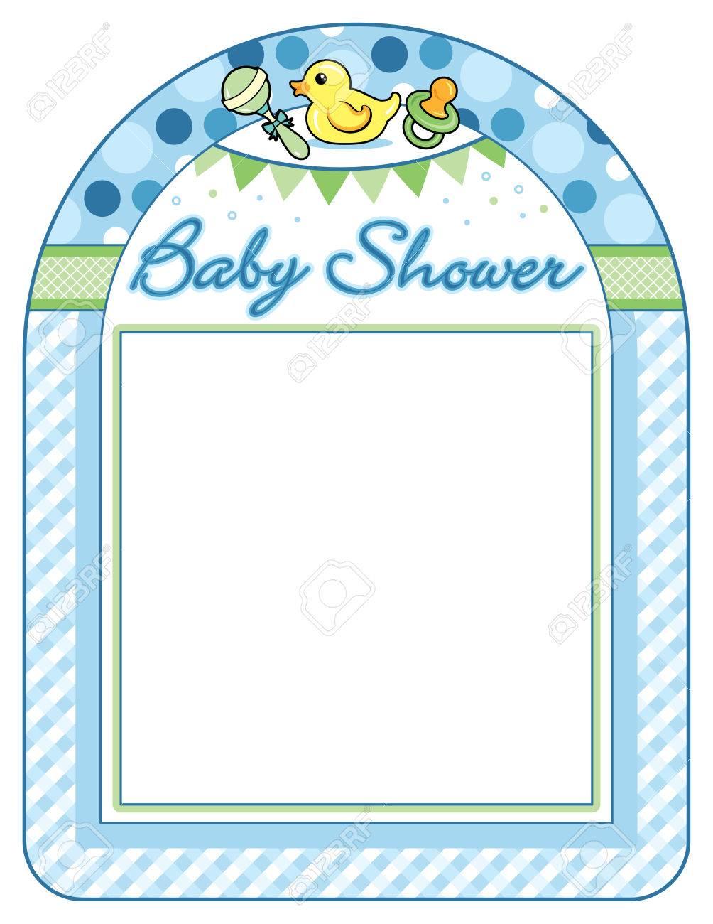 Baby Shower Frame Boy : shower, frame, Shower, Frame, Print, Sheet, Royalty, Cliparts,, Vectors,, Stock, Illustration., Image, 58633038.