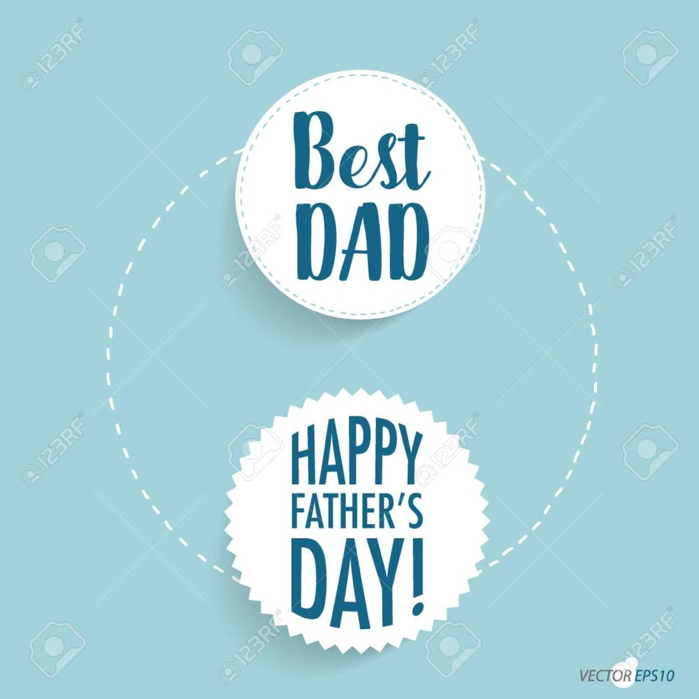 medium resolution of happy fathers day card design vector illustration stock vector 77699402