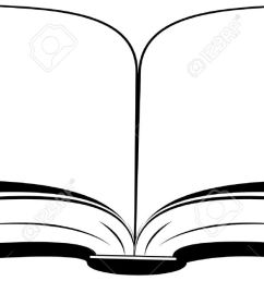 open book on a white background vector illustration  [ 1300 x 626 Pixel ]