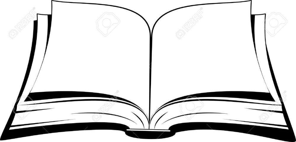 medium resolution of open book on a white background vector illustration