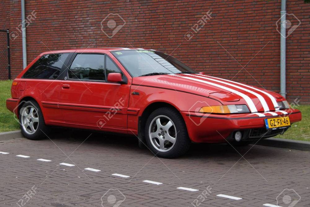 medium resolution of red volvo 480 s e2 sports coupe stock photo 57382278