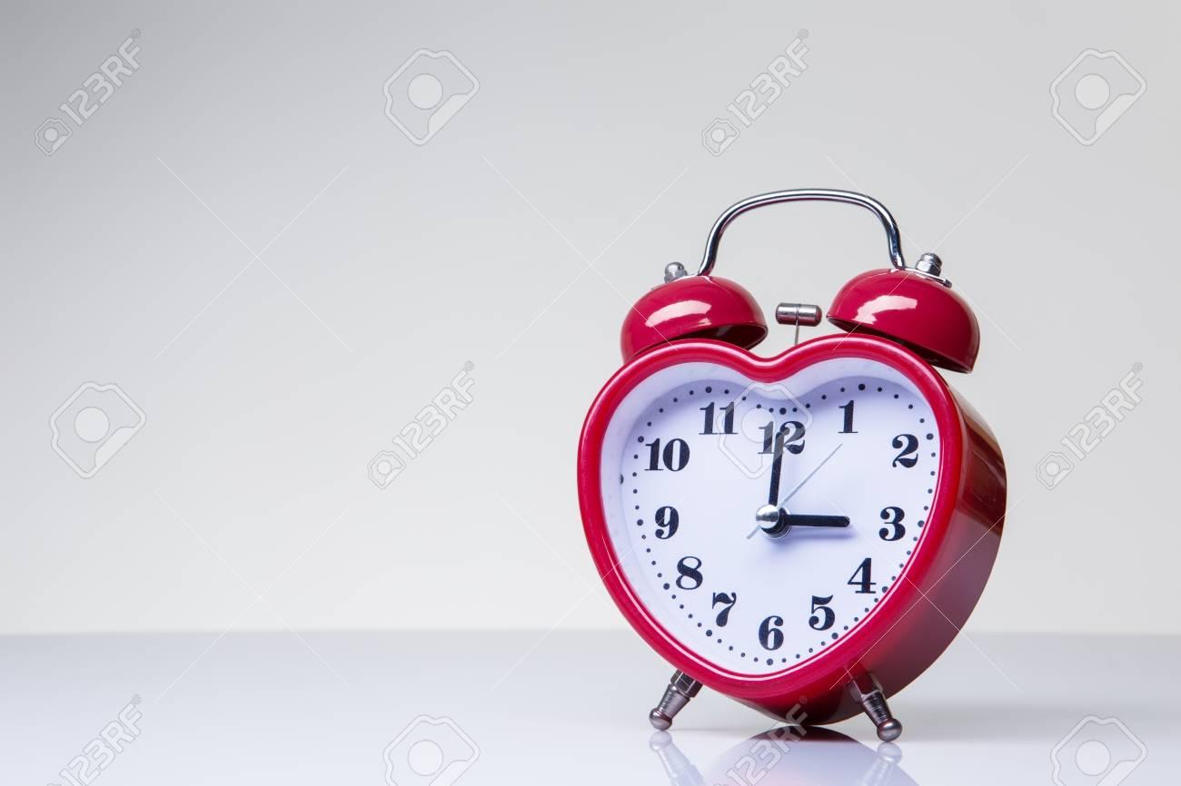 love heart shaped clock